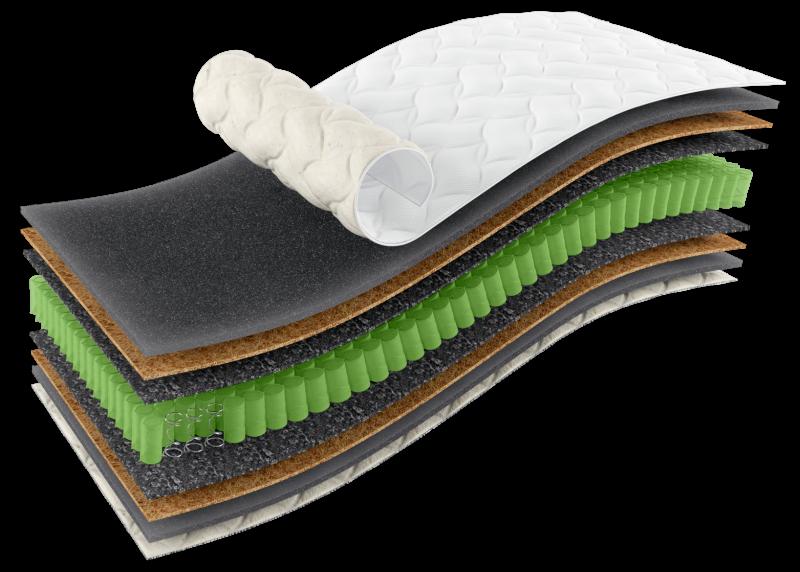 Ортопедичний матрац Omega Sleep&Fly Organic + подушка SideRoll в подарунок