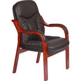 """Крісло """"Буффало CF, шкіра чорна (6231-D BLACK LEATHER + PVC)"""" (62х62х89 см) (арт. 031180) AMF"""